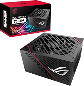 ASUS ROG Strix 750 Fully Modular 80 Plus Gold 750W ATX Power Supply with 0dB Axial Tech Fan and 10 Year Warranty