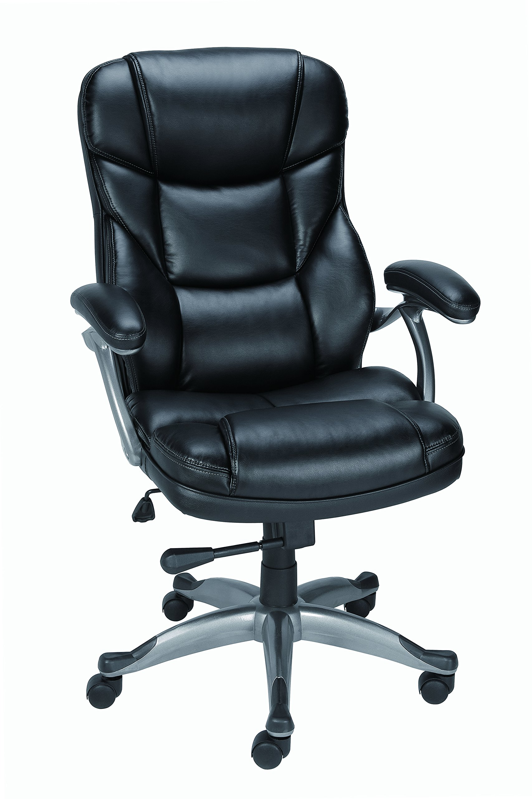 Staples Osgood? Bonded Leather Managers High Back Chair, Black