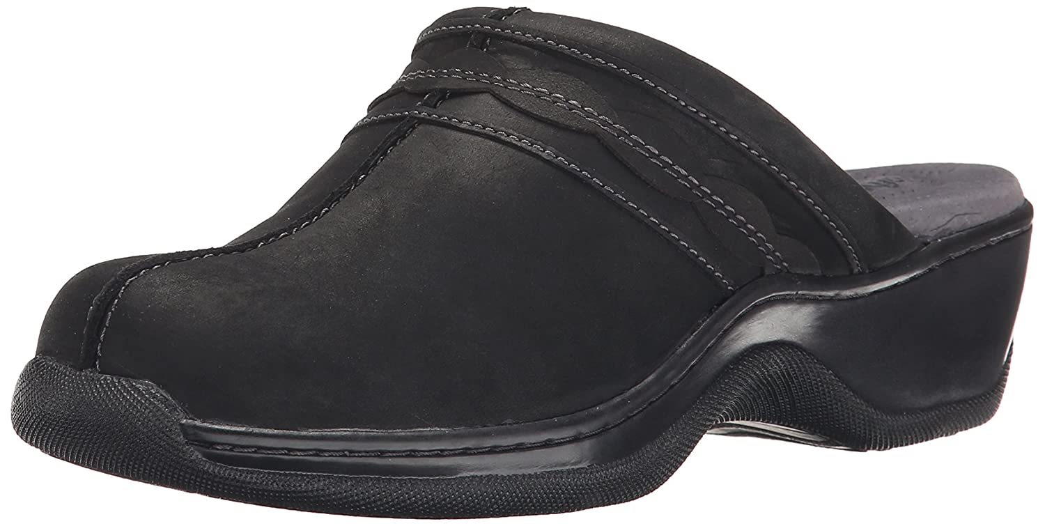 SoftWalk Women's Abby Clog B00RZYXTN4 10 W US|Black Oil