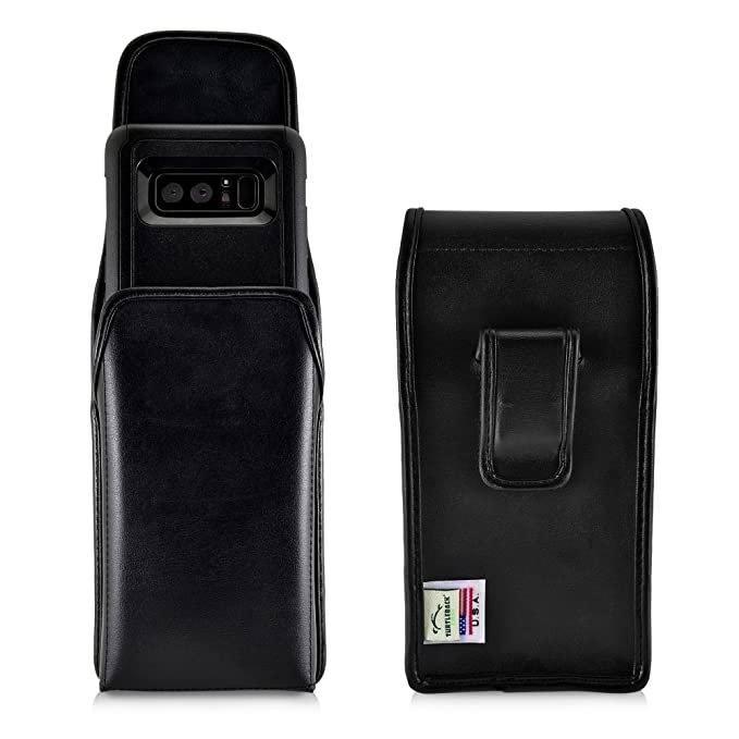 huge selection of c6a63 b0ec3 Turtleback Holster Compatible with Samsung Galaxy Note 8 w/Otterbox  Commuter case Black Vertical Belt Case Leather Pouch with Executive Belt  Clip Made ...