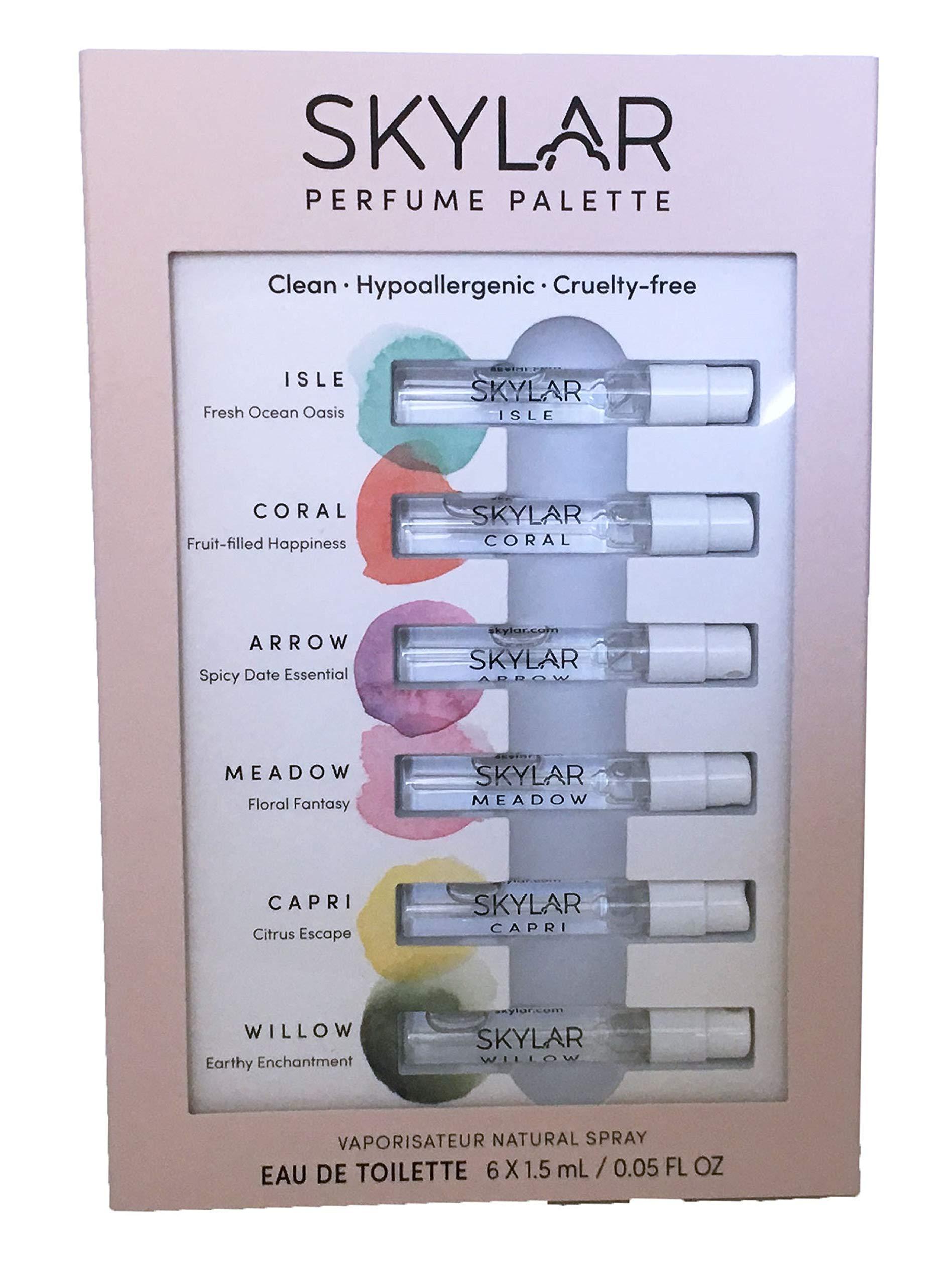 Skylar Perfume Palette - Sampler of Six Unisex Fragrances by Skylar