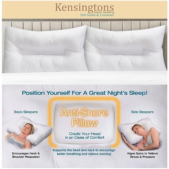Kensingtons® Premium ortopédico Fibra Hueca Anti ronquidos ...