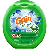Gain flings! Laundry Detergent Liquid Pacs, Blissful Breeze, 81 Count - Packaging May Vary