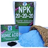 Shiviproducts NPK 20 20 20 Water Soluble Fertilizer for Plants (450 gm) + Organic Humic Acid Fertilizer for Root Growth (Free Sample)