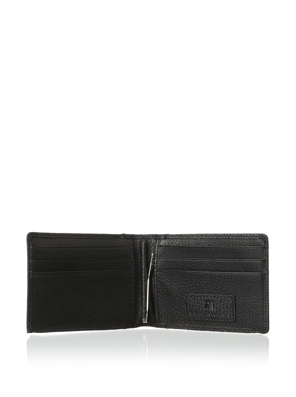 Trafalgar Mens Hawthrone Leather Money-Clip Wallet