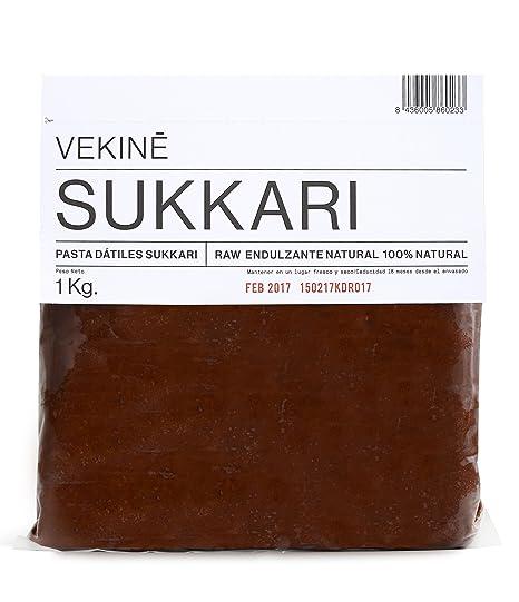 Pasta de dátiles SUKKARI VEKINE 1KG cruda endulzante natural para hacer barritas tartas crudiveganas