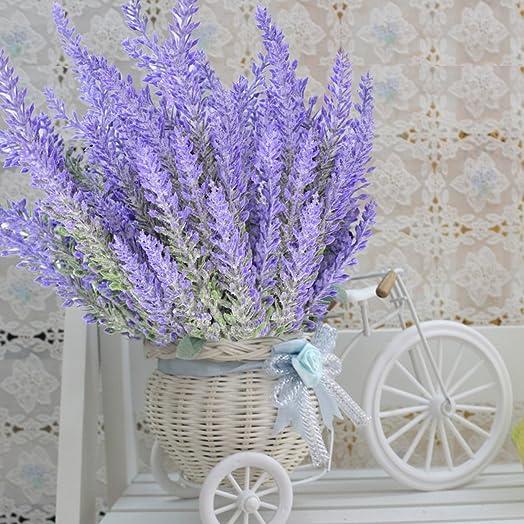 8 bundles lavender bouquet sumersha purple artificial flower for 8 bundles lavender bouquet sumersha purple artificial flower for home decor and wedding decorations junglespirit Gallery