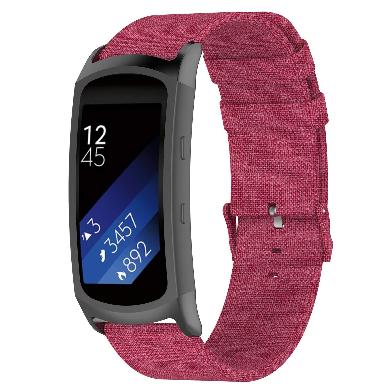 Huamecl Samsung Gear fit 2/Gear Fit2 Pro Straps Bands Woven,Women Men Quick Release Watch Strap Samsung Gear Fit 2 SM-R360/Fit 2 Pro SM-R365 ...