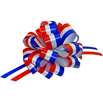 Red, White, And Blue Pull Bows   6u0026quot; Wide, Set Of 6