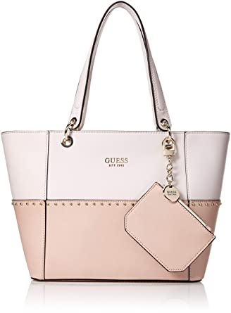 GUESS Women s Kamryn Tote (Blush Multi)  Amazon.in  Clothing ... 9323947c19