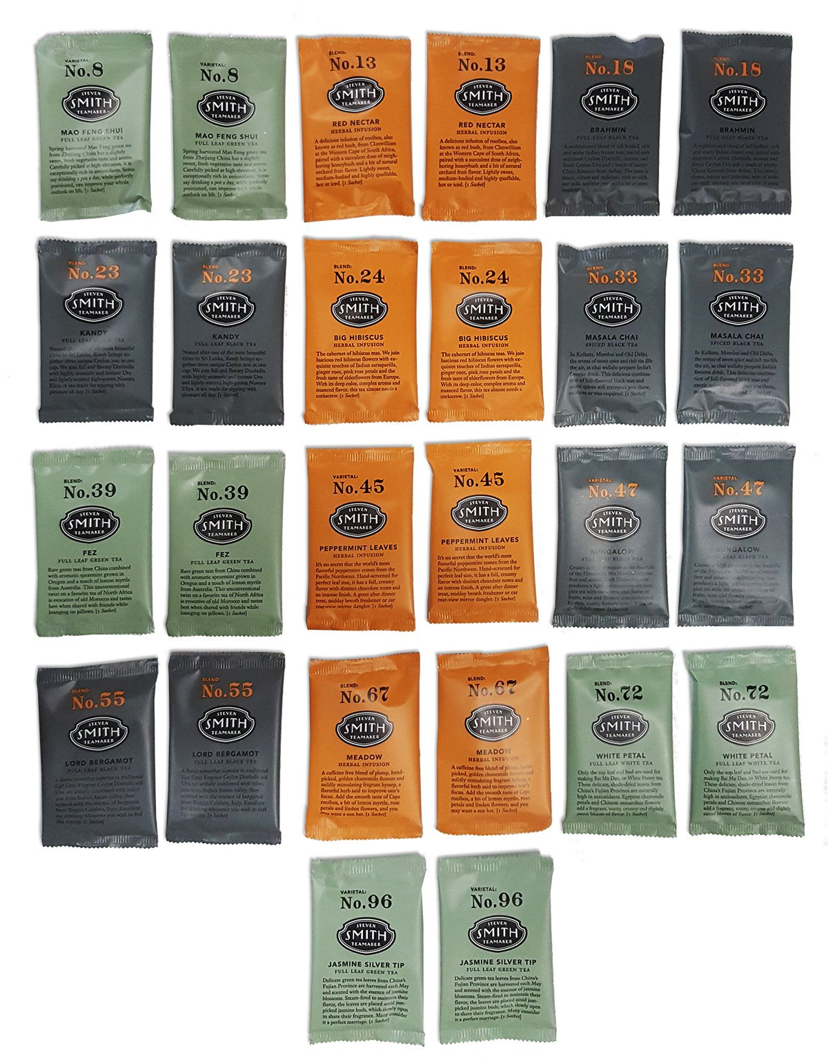 Steven Smith Teamaker, Ultimate Tea Sampler Pack, 2 Flavors of each (26 ct.)