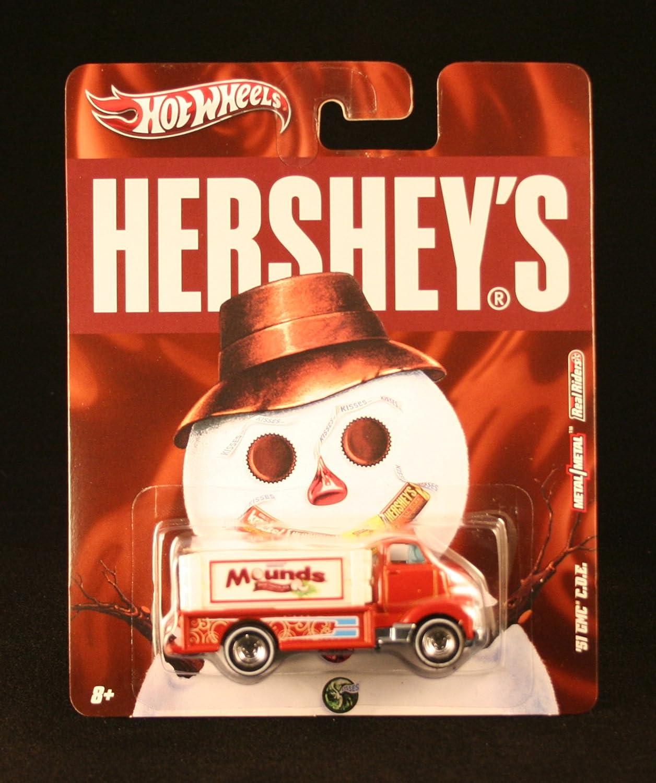 MOUNDS Hersheys 2011 Nostalgia Series 1:64 Scale Die-Cast Vehicle Mattel V2186 Hot Wheels 51 GMC C.O.E