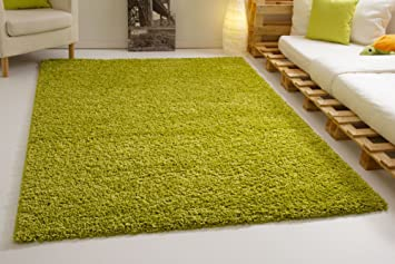 Shaggy Hochflor Teppich Funny Soft Touch Langflor In Der Farbe Grun