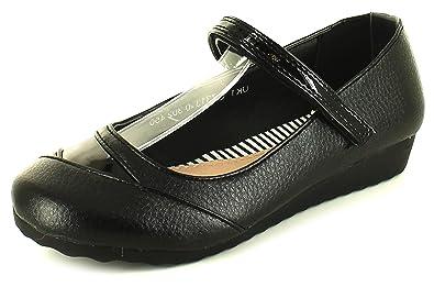Fermeture Chaussures Neuf Fillesenfants Talon Compensé Noir Scratch UZEZqgw