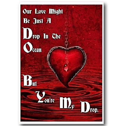 Tarjeta de felicitación de amor, romántica tarjeta de ...