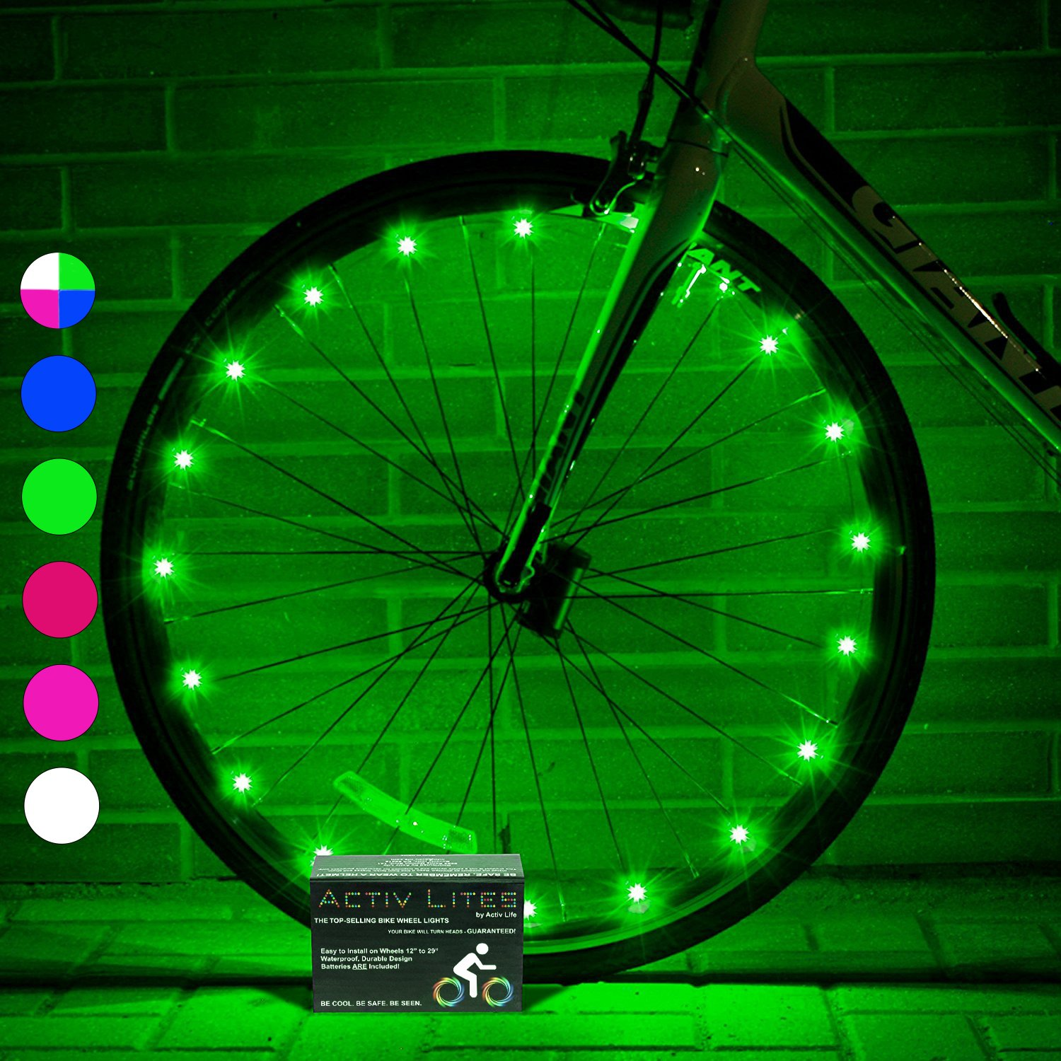 Super Cool LED Wheel Lights (1 Tire, Green) Fun Bicycle Spoke Wire ...