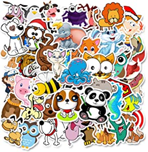 PeStary 50Pcs Anime Game Cartoon Stickers DIY Bike Travel Luggage Phone Guitar Laptop Waterproof PVC Classic Toy Stickers (Animal)