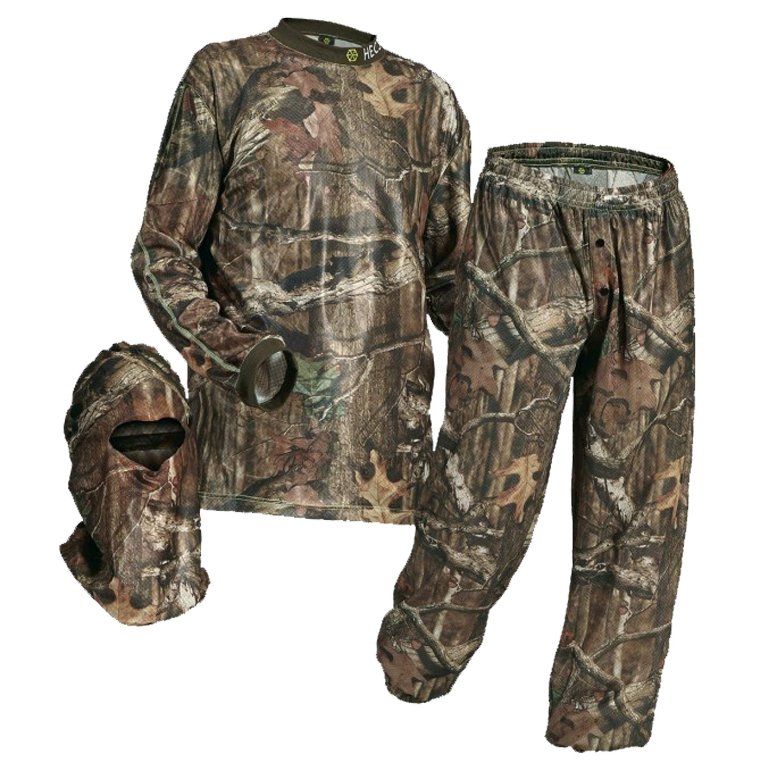 HECS Suit Deer Hunting Clothing with Human Energy Concealment Technology - Camo 3 Piece Shirt, Pants, Headcover - Lightweight Breathable in Mossy Oak Country & Realtree Xtra | Mossy Oak, Large by HECS