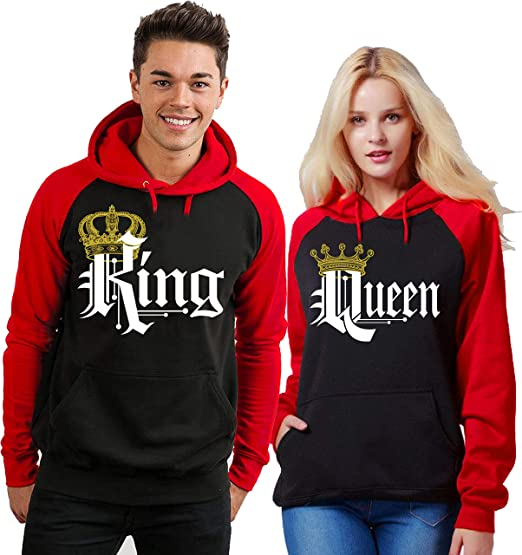 King /& Queen Couple Crewneck His and Hers NEW Design Matching Sweatshirt