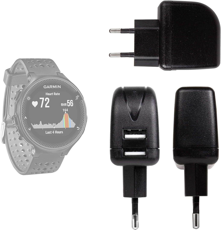 DURAGADGET Cargador con Enchufe Europeo para Smartwatch Garmin ...