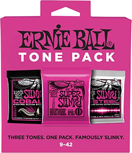 Ernie Ball Regular Slinky Electric Guitar Strings 10-46 Optional String Winder