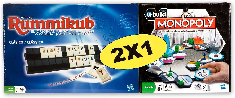 Hasbro Pack Rummikub + Monopoly Ubuild - Pack de Dos Juegos de Mesa: Amazon.es: Juguetes y juegos
