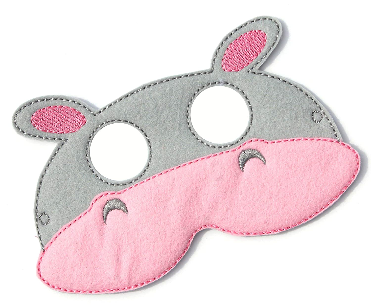 Kids Face Mask Pretend Play Party Favors Dress Up Felt Mask Halloween Costume Hippo Costume  Animal Face Mask Costume Kids Hippopotamus Mask
