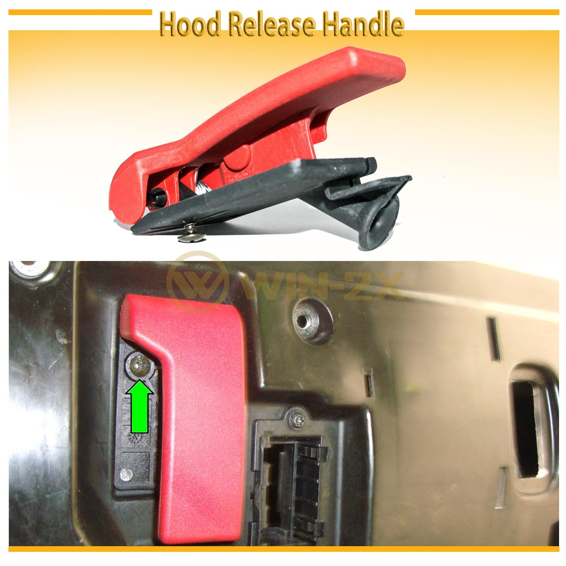WIN-2X New 1pc Front Interior Hood Latch Release Pull Handle Lever Replacement Fit Mercedez-Benz C/E/S/CLK/ML/GL/R/S/SLK/CL/CLS/SLS-Class