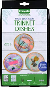 Crayola DIY Trinket Tray, Versatile Catchall Dish, Gifts for Teen Girls & Boys, 8 Pcs