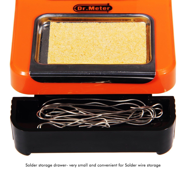 Dr. Meter SI de 48 48 W Soldadura con Control de Temperatura Ajustable, Cuatro Cabezales Soldador Puntas adicionales: Amazon.es: Bricolaje y herramientas