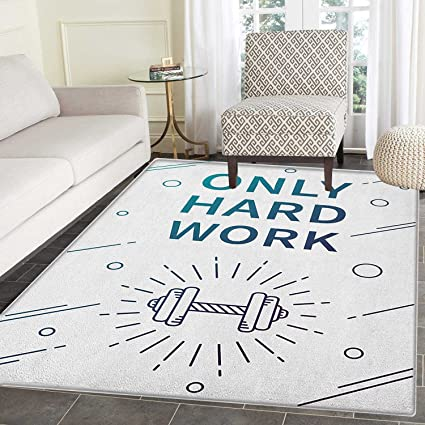 Amazon Com Fitness Area Silky Smooth Rugs Only Hard Work Positive