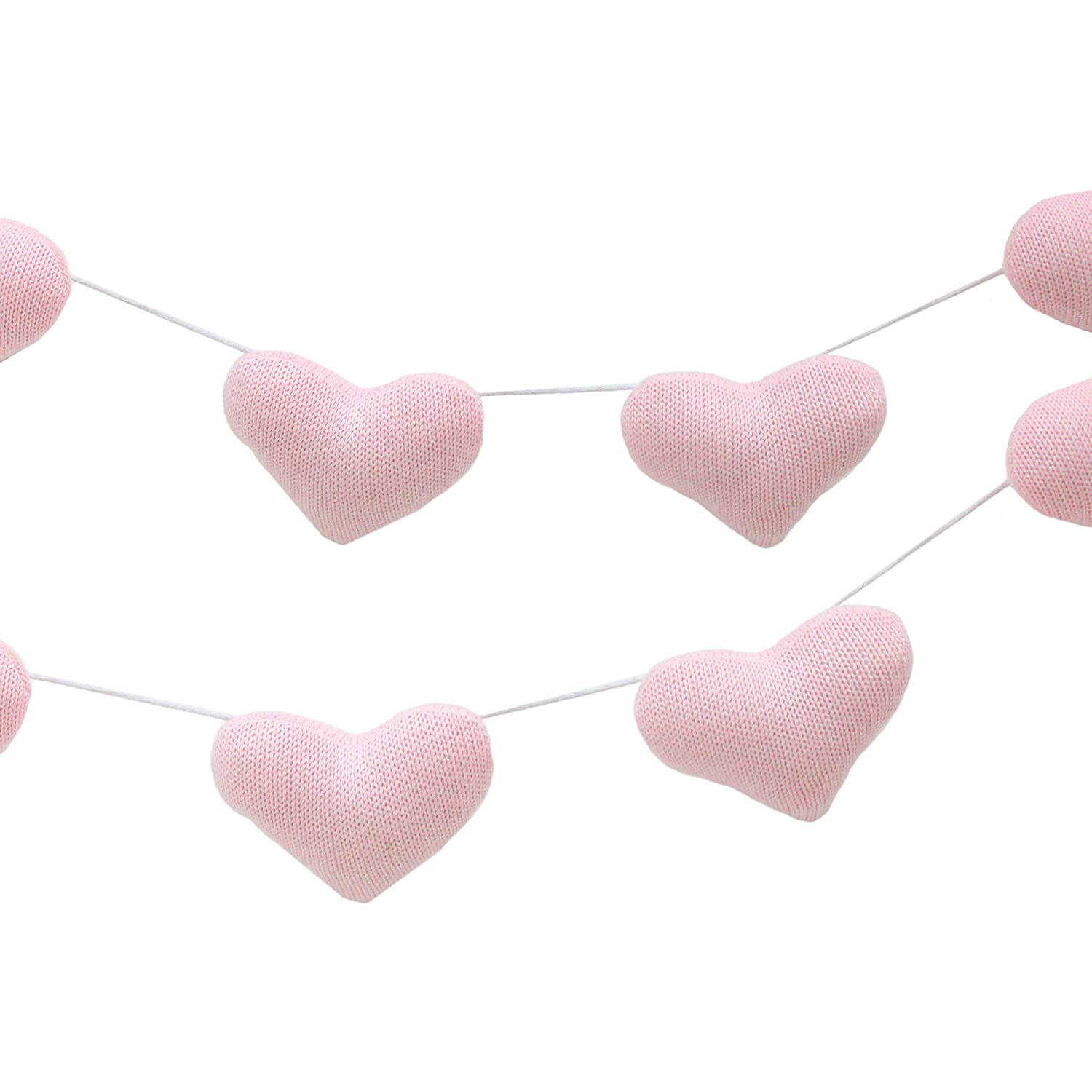 Living Textiles Knitted Garlands (6pc White Stars). Hanging Accessory for Baby Boy or Girl Nursery. 521103