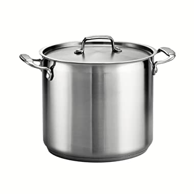 Tramontina 80120/000DS Tramontina Gourmet Stainless Steel Covered Stock Pot, 12-Quart