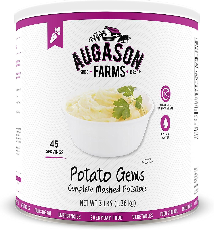 Augason Farms Potato Gems Complete Mashed Potatoes 3 lbs No. 10 Can