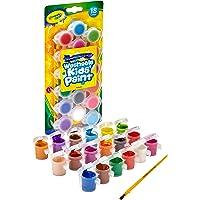 Crayola 5401250003 Pinturita Escolar Lavable, 88 mm, Paquete de 18