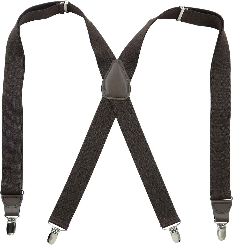 Stacy Adams Mens Clip On Suspenders