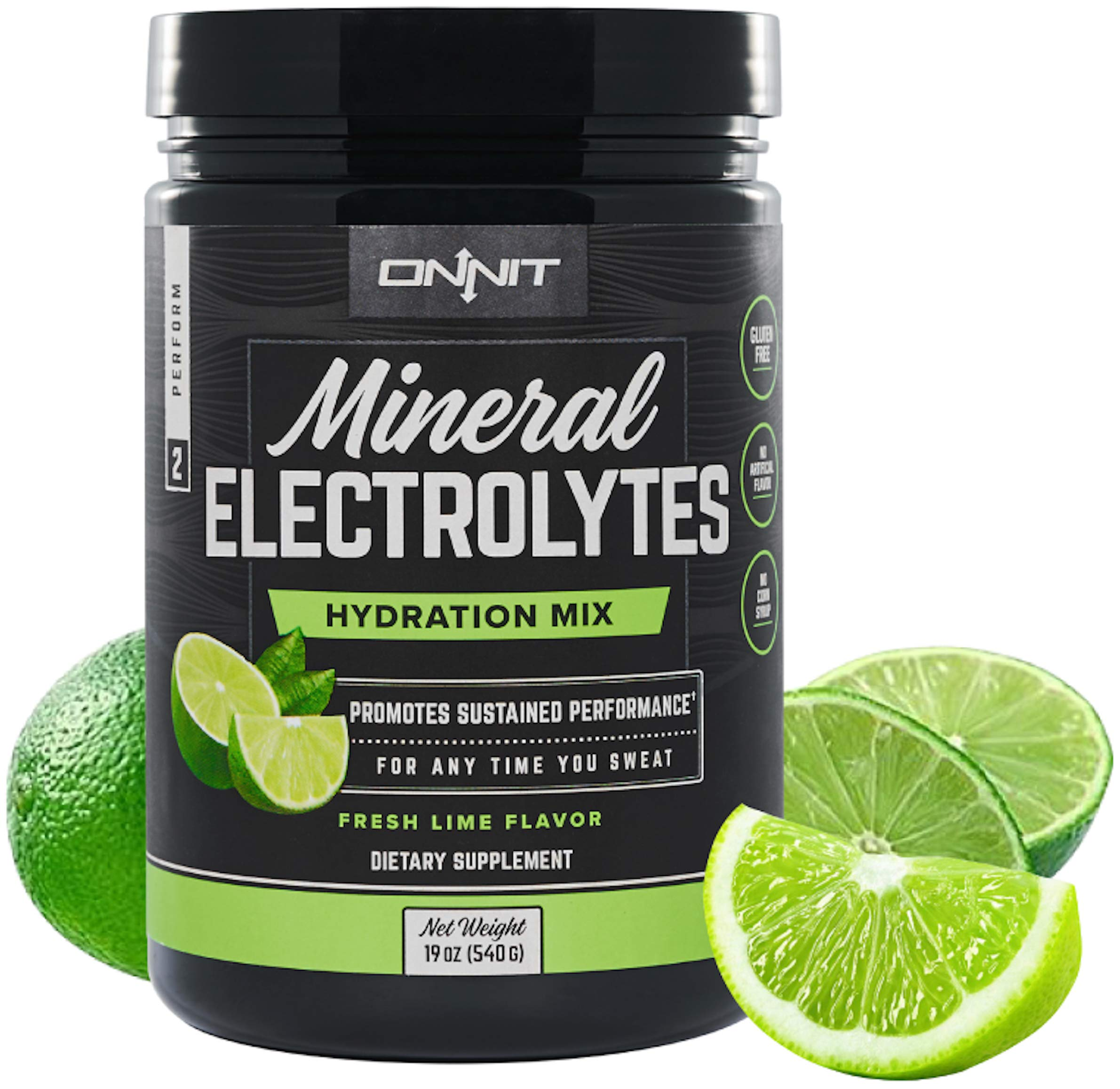 Onnit Electrolyte Powder - Keto Friendly, Low Sugar Hydration Powder with Potassium Citrate, Sodium Bicarbonate, Chelated Magnesium Bisglycinate | Fresh Lime Flavor | 60 Servings         by ONNIT