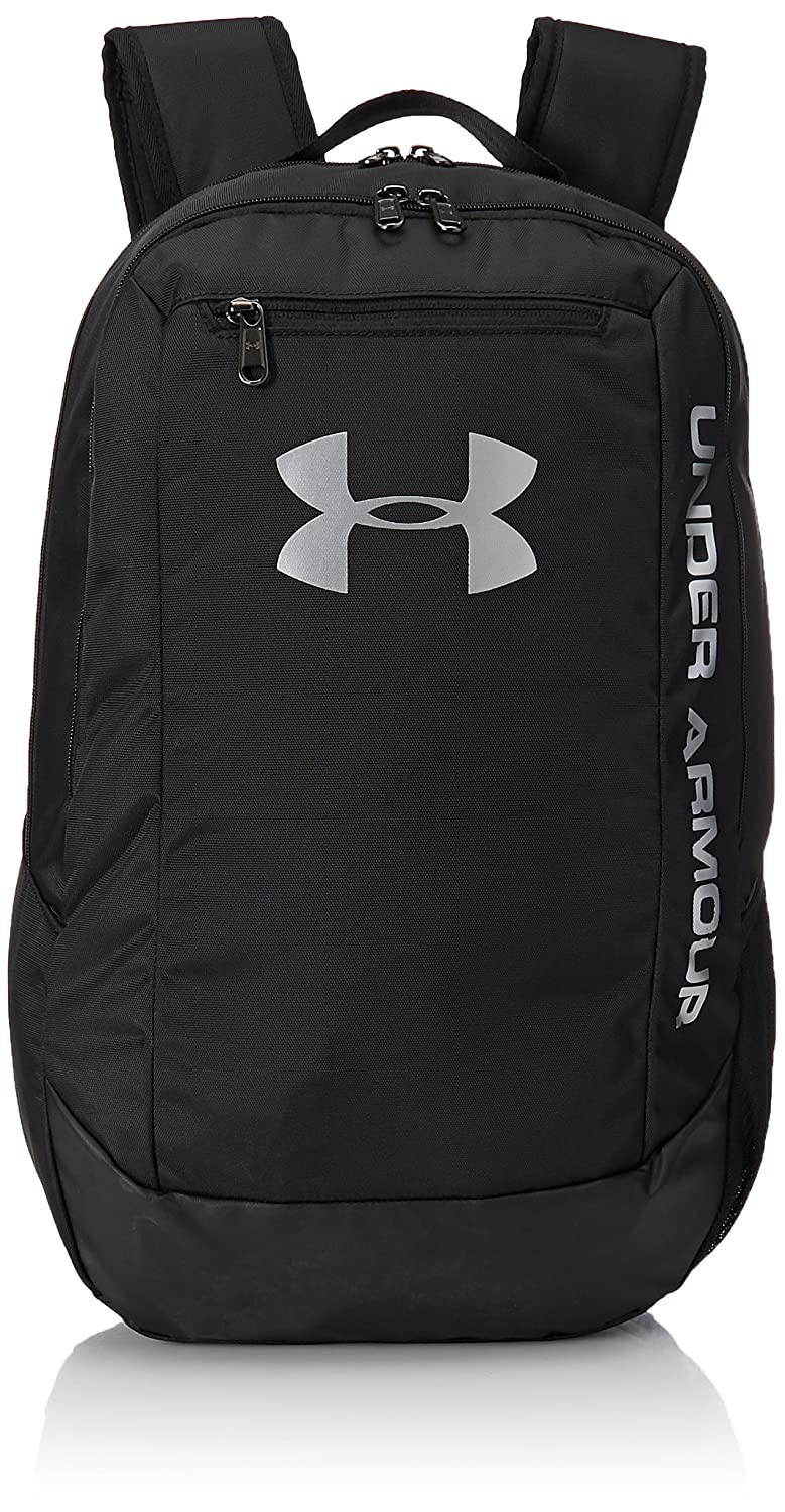 103bc6f706 Amazon.com  Under Armour Hustle LDWR Backpack One Size Black Black Silver   Arts