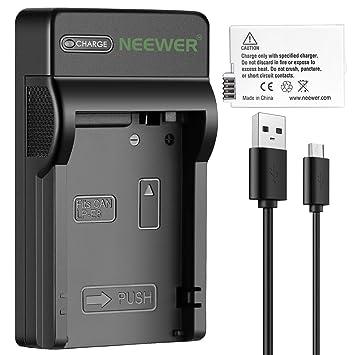 Neewer Cámara Batería Cargador Set para Canon LP-E8: Batería ...