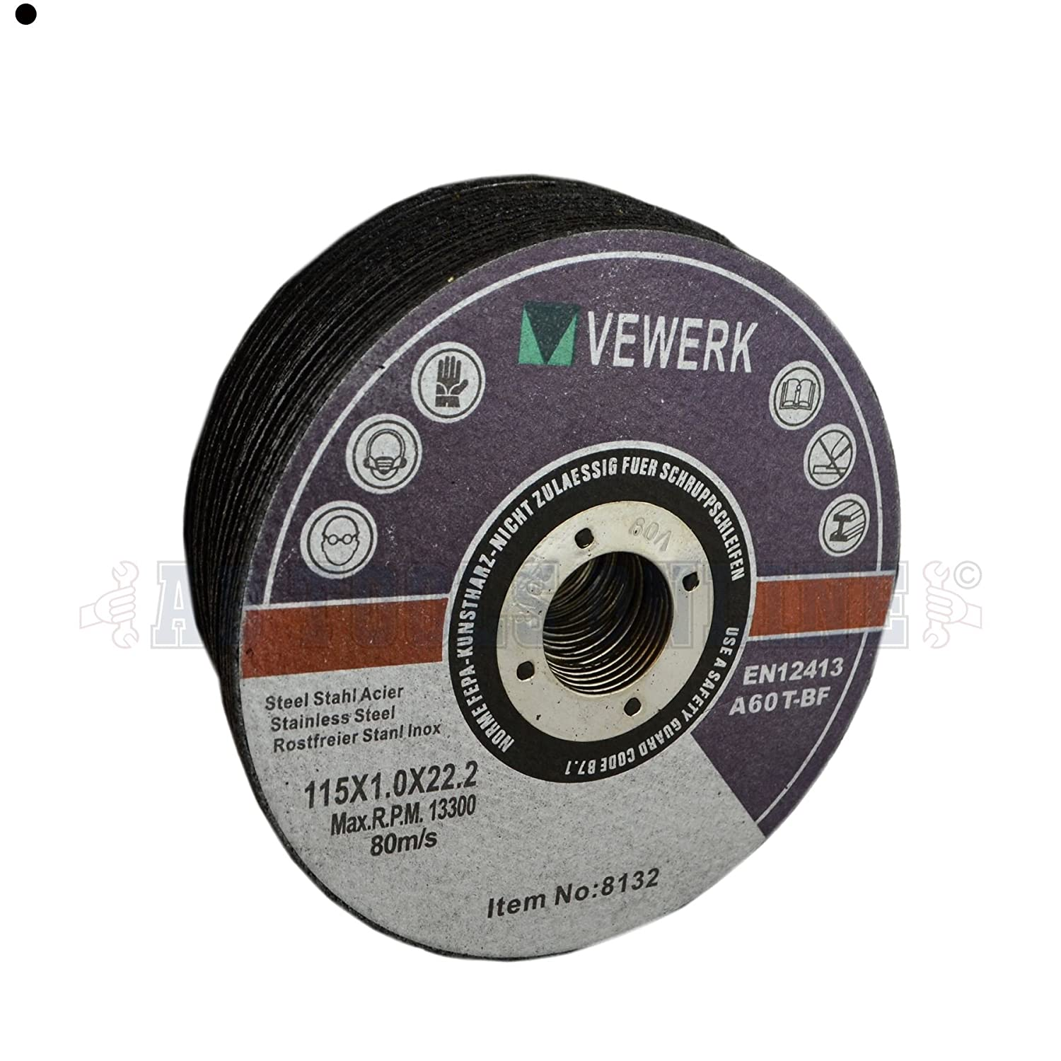 """Thin Metal Steel Cutting Discs For 4-1//2/"""" Angle Grinder 115mm x 1mm Pack of 25"""