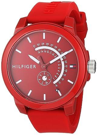 Tommy Hilfiger Reloj Analógico para Hombre de Cuarzo con Correa en Silicona 1791480: Amazon.es: Relojes