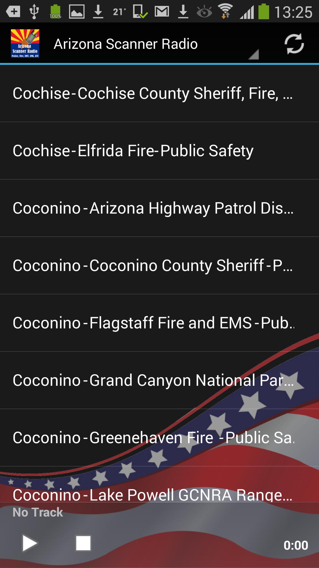 Arizona Scanner Radio - Police, Fire, EMS, EMT, ATC