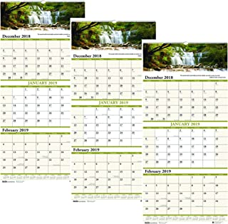 product image for House of Doolittle 2019 Wall Calendar, Three-Month View, Earthscapes Scenic, 12.25 x 26 Inches, December - January 3 Pack