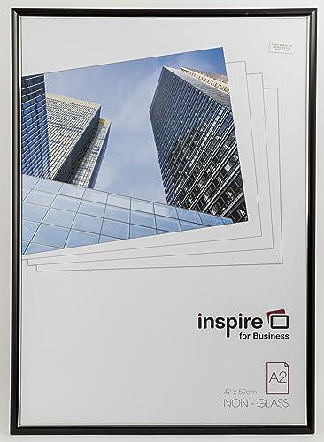Inspire For Business A2 Easy Loader Photo/Poster Frame - Black