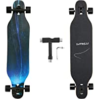Xapwell 41 Inch Longboard Skateboard Complete Cruiser Complete Freestyle Drop Down Cruiser Maple Skateboard Professional…
