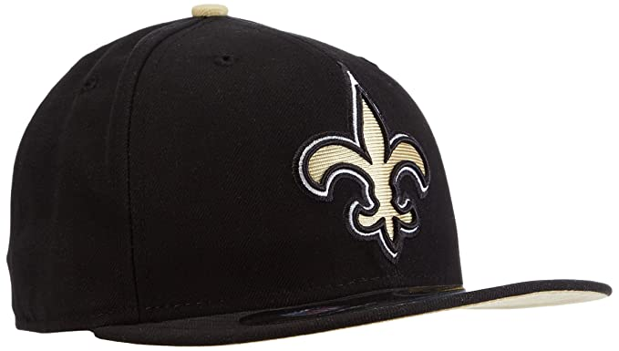 a33ab154 NFL Mens New Orleans Saints On Field 5950 Game Cap By New Era