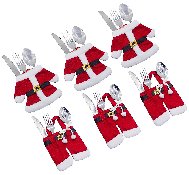 Santa Suit Christmas Silverware Holders,6Pcs Set Bienvenu ZLM14090088