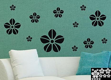 12 neonfarbene fiore adesivo per la decorazione di pareti prodotti
