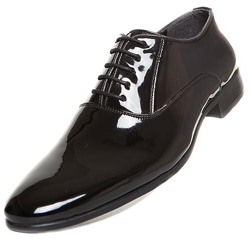 CAPRIUM - Zapatos de vestir para hombre (para bodas, forro interior), color negro brillante, color negro, talla 39 EU: Amazon.es: Zapatos y complementos