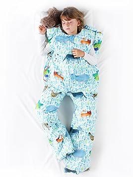 Sacos de dormir infantiles con piernas. Talla 5 años. Relleno FINO, Modelo GRANJA.: Amazon.es: Hogar